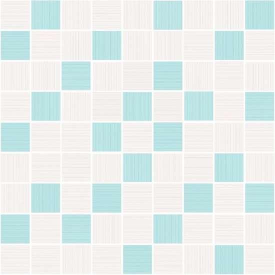 Cersanit (Tiffany blue) вставка: Tiffany мозаика, (A-TV2L041\G) голубой, 30x30