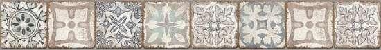 Cersanit (Majolica beige) бордюр: Majolica, (MA1J452DT) многоцветный, 8x60