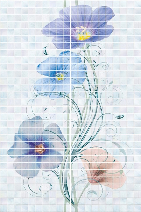 Global Tile (Summer) 10300000086 Декор керамический. Summer Голубой. 40*60 панно из 4 плит
