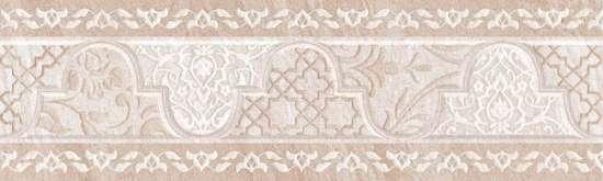 Global Tile (Ternura) 10212001904 Бордюр керамический. Ternura Бежевый. 25*7,5