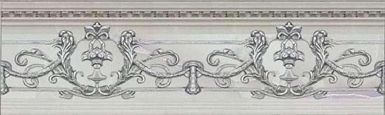 Novacera  NCC309007B. 09x30 NC Royal Listello Ornato Silver бордюр настенный