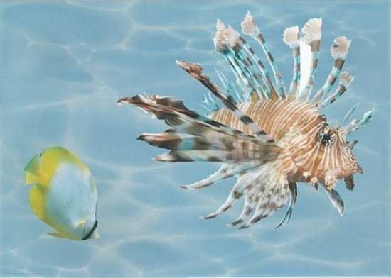 Березакерамика (Лазурь) Декор Панно Морской мир 2 бирюзовый 25*35