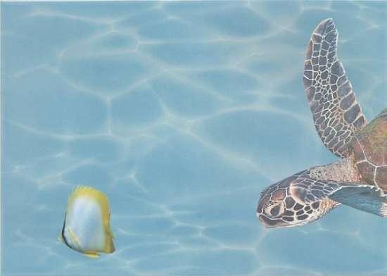 Березакерамика (Лазурь) Декор Панно Морской мир 3 бирюзовый 25*35