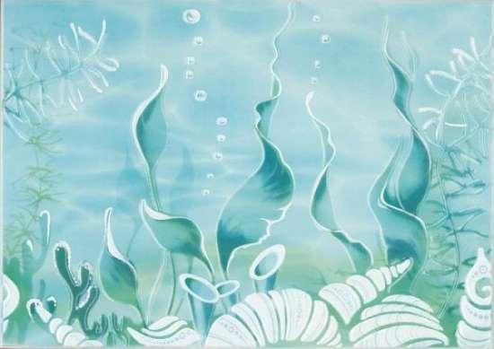 Березакерамика (Лазурь) Декор Лазурь Морское дно 25*35