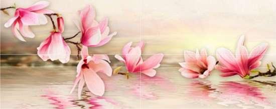 Березакерамика (Мираж) Декор Панно Мираж серо-розовый ( 4 шт 20*50)