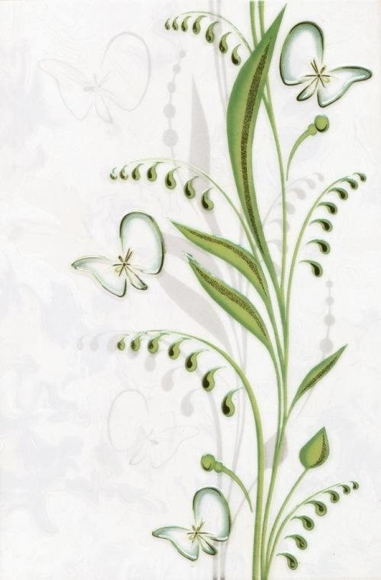 Березакерамика (Нарцисс) Декор Нарцисс лето салатовый 20*30