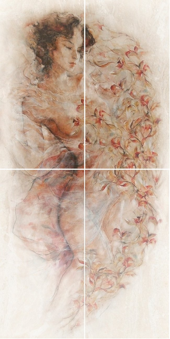 Березакерамика  Флоренция св-коричневый панно 25*50 (4шт)