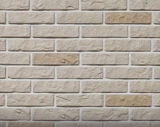 Камолов Декоративный камень, гипс Дикий кирпич бежевый 210х54х10 В упаковке 0,79