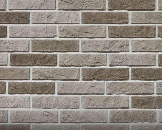 Камолов Декоративный камень, гипс Дикий кирпич серый 210х54х10 В упаковке 0,79