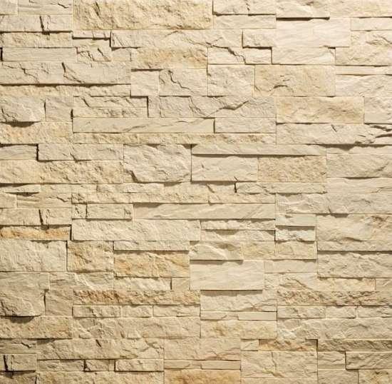 Камолов Декоративный камень, гипс Сланец Карпатский бежевый (Premium)  260х63х10 В упаковке 0,84