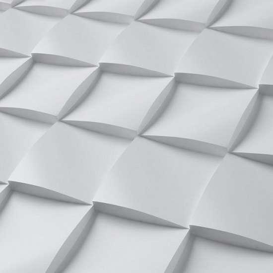 Камолов Декоративный камень, гипс Геометрика.Объемный квадрат 150х150 В упаковке 0,47