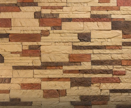 Камолов Декоративный камень, бетон Карпатский сланец СЛКА0314 400х95х12/250х95х12/150х95х12 В упаковке 0,76