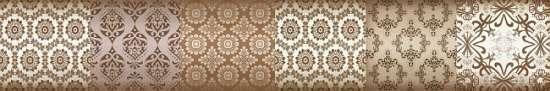 Уралкерамика (Alma Ceramica) Frejya Бордюр настенный (82х500х8,5) бежевая BWU58FRE404