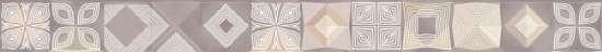 Уралкерамика (Alma Ceramica) Бордюр настенный (60х600х8) Ariana розововый. BWU60ARI707 (ALMA CERAMICA).