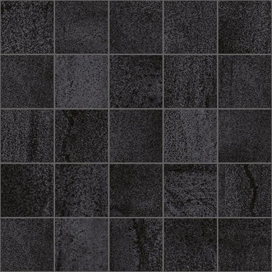 Laparet Metallica Декор мозаичный чёрный MM34034 25х25
