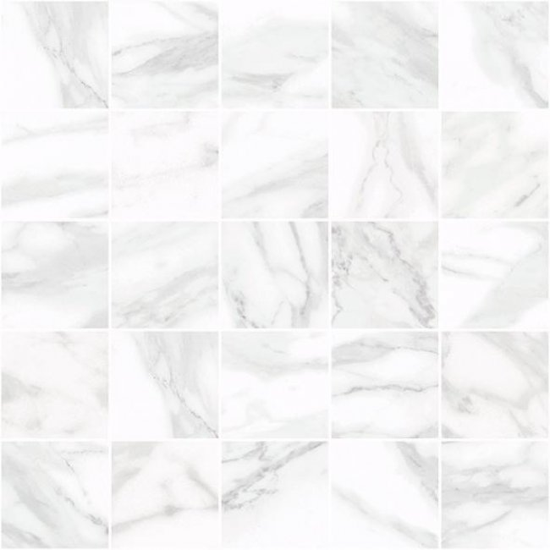 Laparet Olimpus Декор мозаичный белый MM34037 25х25