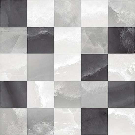 Laparet Prime Декор мозаичный серый микс MM34040 25х25