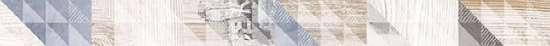 LВ-ceramics (Vestanvind) Бордюр керамический. Вестанвинд Серый 1506-0024  60*8