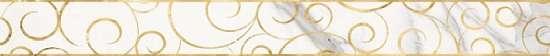 LВ-ceramics (Milanese Design) Бордюр Миланезе дизайн Флорал Каррара белый 1506-0154  60*6