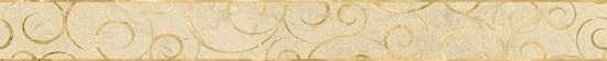 LВ-ceramics (Milanese Design) Бордюр Миланезе дизайн Флорал Крема бежевый  1506-0156  60*6