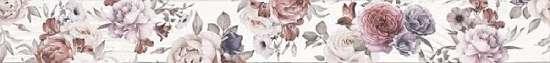 LВ-ceramics (Shabby chic) Бордюр Шебби Шик Белый 1506-0018   60*7