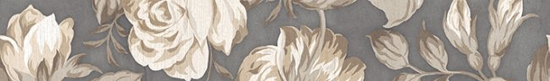 LВ-ceramics (Fiori Grigio) Бордюр Фиори Гриджо 1506-0100  60*9
