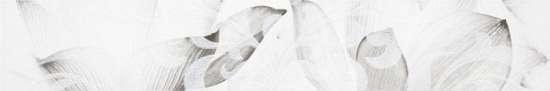 LВ-ceramics (Каррарский Мрамор) Бордюр Каррарский Мрамор Цветы 1504-0145  7,5*45