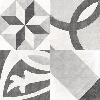 Cersanit AS4R092D Плитка грес глазурованный. Apeks Серый. 42*42 _ декорированный