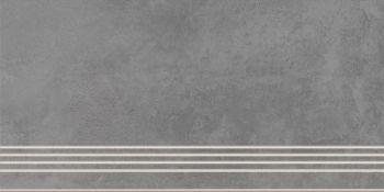 Cersanit A-TH4O406\J Плитка грес ступень Townhouse Темно-серый 59,8*29,7