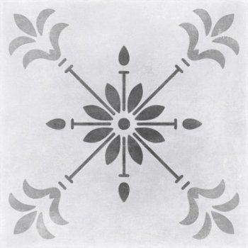 Cersanit (MODERN LINE) MO4A095 Глазурованный керамогранит Motley пэчворк цветы серый 29,8x29,8