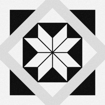 Cersanit (MODERN LINE) SM4A053 Глазурованный керамогранит Stream геометрия белый 29,8x29,8