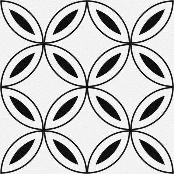 Cersanit (MODERN LINE) SM4A055 Глазурованный керамогранит Stream лепестки белый 29,8x29,8