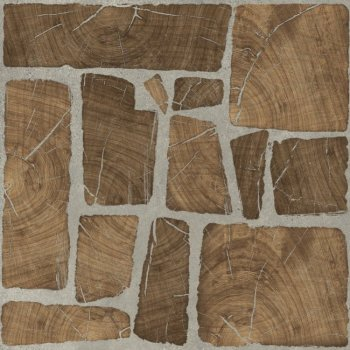 Cersanit (Woodland) WL4R112 Глазурованный керамогранит Woodland коричневый 42x42