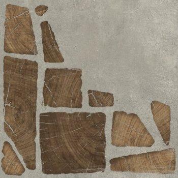Cersanit (Woodland) WL4R092 Глазурованный керамогранит Woodland серый 42x42