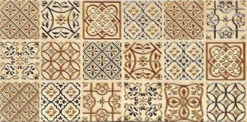 Керамин (Букингем) БУКД3/30/60/5 Декор керамический. Букингем 3 беж.евый 60*30 панно пэчворк
