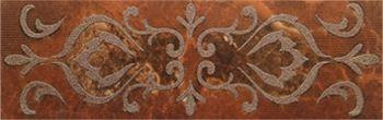 Керамин (Букингем) Бордюр настенный 3Т Коричневый 30*9,8