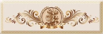 Absolut Keramika Decor Medallion Flower 02 10x30