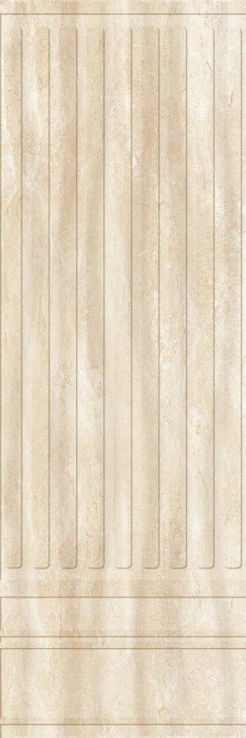 Керамическая плитка Eurotile стена Lia Biege 138 (рельеф+плинтус) 29,5*89,5