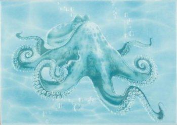 Березакерамика (Лазурь) Декор Лазурь осьминог бирюзовый 25*35