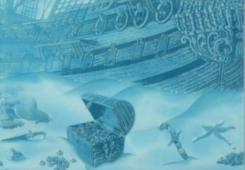 """Березакерамика (Лазурь) Панно Лазурь""""Корабль""""  из 9 штук 75*105"""