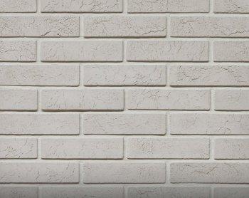 Камолов Декоративный камень, гипс Римский кирпич белый 225х57х6 В упаковке 1,04