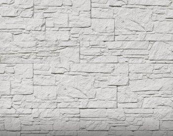 Камолов Декоративный камень, гипс Сланец Алпачи белый 400х95х12 291/241х94/188х12 404/254х95/19х12 В упаковке 1,02