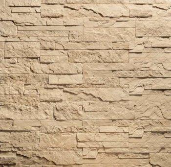 Камолов Декоративный камень, гипс Сланец Карпатский коричневый (Premium)  260х63х10 В упаковке 0,84