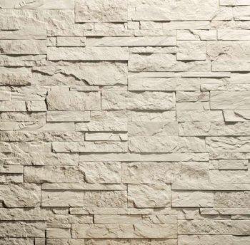 Камолов Декоративный камень, гипс Сланец Карпатский серый (Premium)  260х63х10 В упаковке 0,84
