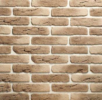 Камолов Декоративный камень, гипс Старый кирпич ореховый (Premium) 280х63х10 В упаковке 0,84