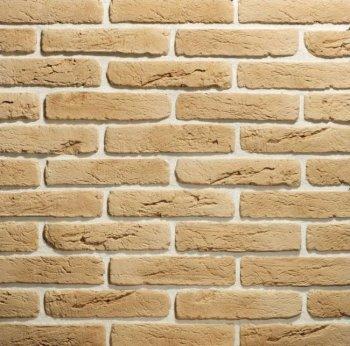 Камолов Декоративный камень, гипс Старый кирпич охра (Premium) 280х63х10 В упаковке 0,84