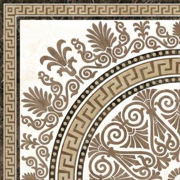 GoldenTile (Meander) Декор/Пол Rosette 400х400 бежевый 2А1810