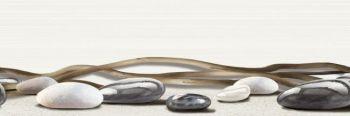 Уралкерамика (Alma Ceramica) Ailand Декор настенный (200х600х8) камни с веточкой DWU11ALD024