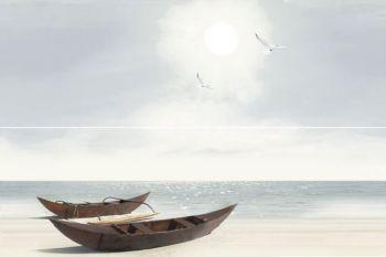 Уралкерамика (Alma Ceramica) Ailand Декор панно настенный (400х600х8) лодки (компл-2шт) PWU11ALD1
