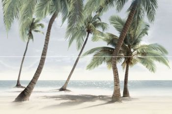 Уралкерамика (Alma Ceramica) Ailand Декор панно настенный (400х600х8) пальмы (компл-2шт) PWU11ALD2